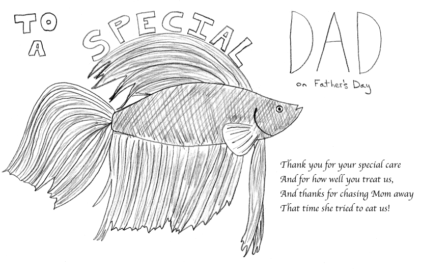 If Bettas Sent Father's Day Cards