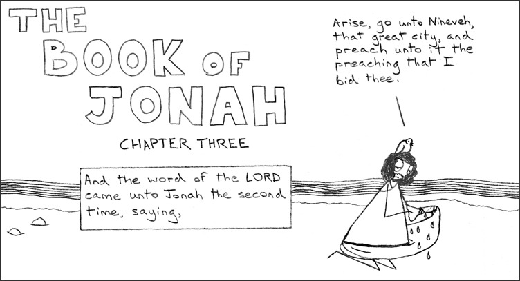 Jonah should at least get to have some falafel and take a nap first.