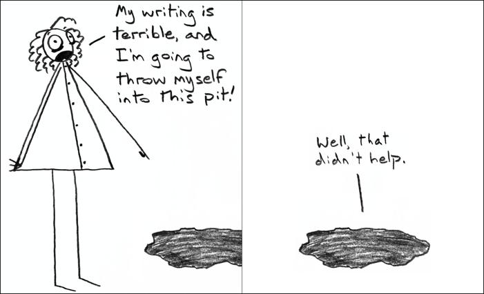 I wonder if Kafka ever fantasized about throwing himself in a pit. I should ask him.